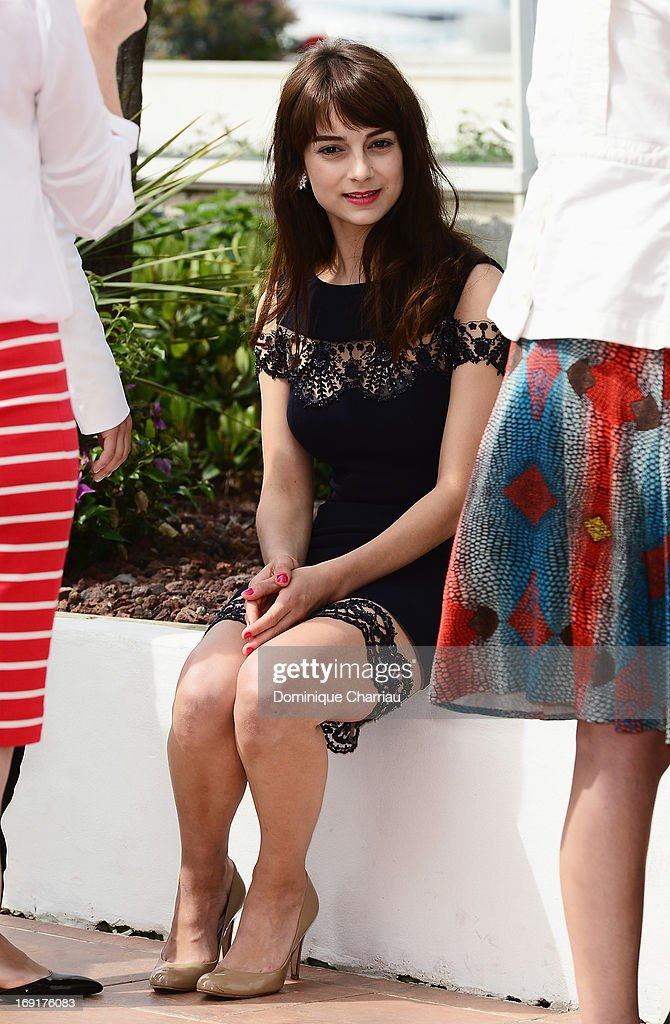 Actress Sophie Desmarais attends the photocall for 'Sarah Prefere La Course' during The 66th Annual Cannes Film Festival at Palais des Festivals on May 21, 2013 in Cannes, France.