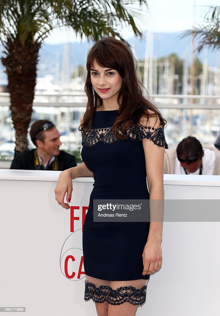 Actress Sophie Desmarais attends the 'Sarah Prefere La Course' Photocall during The 66th Annual Cannes Film Festival at the Palais des Festivals on...