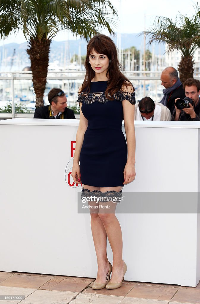Actress Sophie Desmarais attends the 'Sarah Prefere La Course' Photocall during The 66th Annual Cannes Film Festival at the Palais des Festivals on May 21, 2013 in Cannes, France.