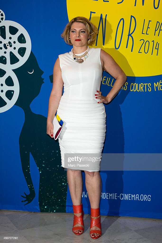 Actress Sophie Guillemin attends the 'Panorama des Nuits en or' gala dinner UNESCO on June 16, 2014 in Paris, France.