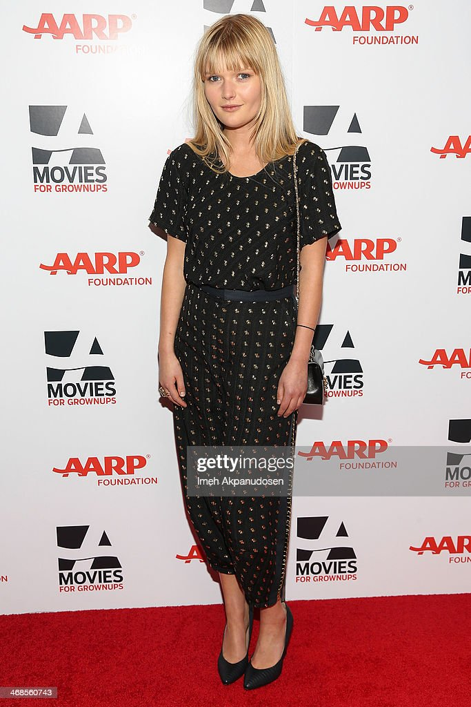 Actress <a gi-track='captionPersonalityLinkClicked' href=/galleries/search?phrase=Sophie+Kennedy+Clark&family=editorial&specificpeople=7256528 ng-click='$event.stopPropagation()'>Sophie Kennedy Clark</a> attends the 13th Annual AARP's Movies For Grownups Awards Gala at Regent Beverly Wilshire Hotel on February 10, 2014 in Beverly Hills, California.
