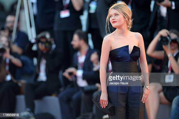 Actress Sophie Kennedy Clark attends the 'Philomenia' Premiere during The 70th Venice International Film Festival at Palazzo del Cinema on August 31...
