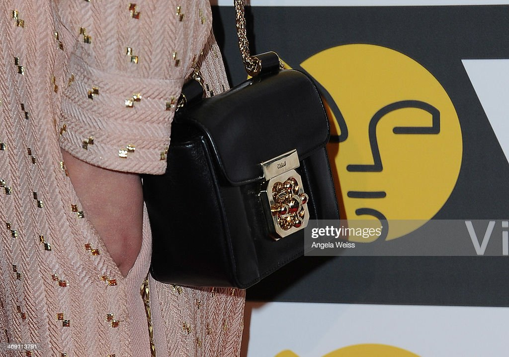 Actress Sophie Kennedy Clark (purse detail) attends the Visual Effects Society's 12th Annual VES Awards at The Beverly Hilton Hotel on February 12, 2014 in Beverly Hills, California.