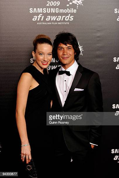 Actress Sophie Lowe and Bobby Morley arrive for the 2009 Samsung Mobile AFI Awards at the Regent Theatre on December 12 2009 in Melbourne Australia