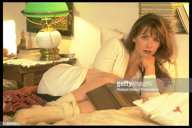 Actress Sophie Marceau at Home