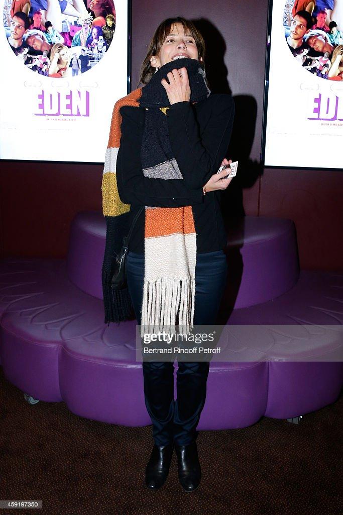 Actress Sophie Marceau attends the 'Eden' Paris Premiere at Cinema Gaumont Marignan on November 18, 2014 in Paris, France.
