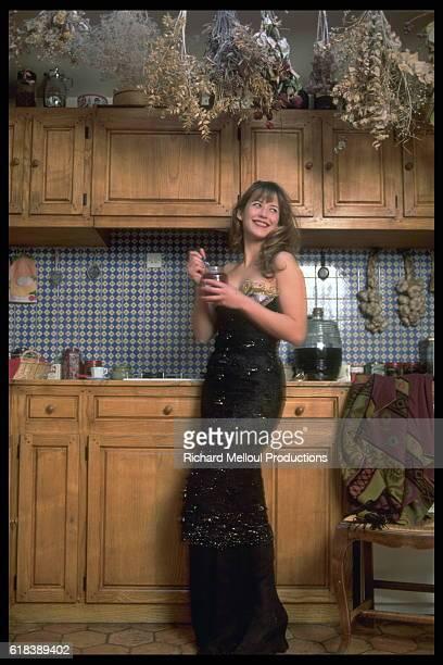 Actress Sophie Marceau in Her Kitchen
