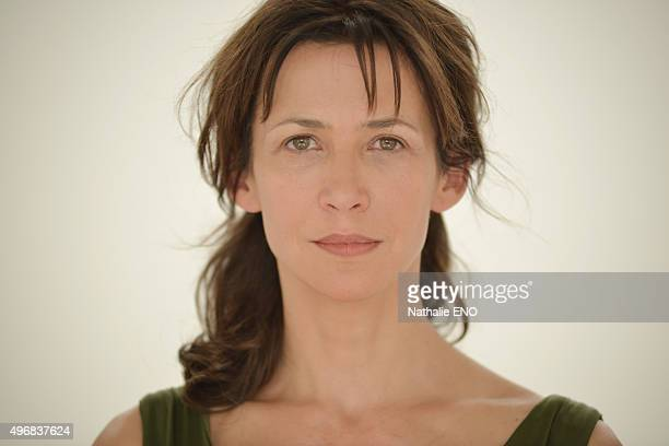 Actress Sophie Marceau is photographed filming ARTE 'Une histoire d'ame' for Self Assignment on October 23 2015 in Paris France