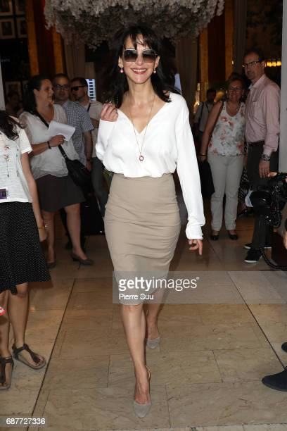 Actress Sophie Marceau is spotted at the'Majestic' hotel during the 70th annual Cannes Film Festival at on May 24 2017 in Cannes France
