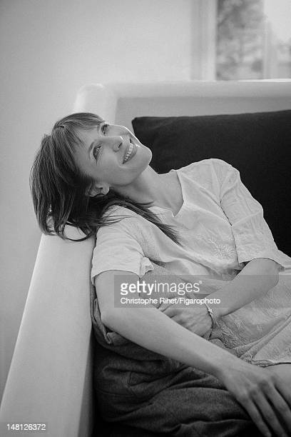 Actress Sophie Marceau poses for Madame Figaro on May 17 2012 in Paris France Figaro ID 104005019 Tunic by Laurence Dolige jewelry by Chaumet CREDIT...
