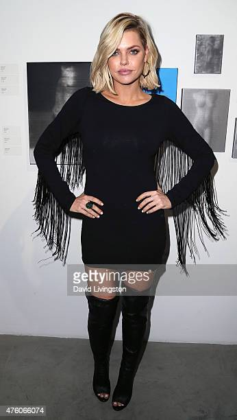Actress Sophie Monk attends the Art for Animals fundraiser art event hosted by Alison Eastwood at De Re Gallery on June 5 2015 in West Hollywood...