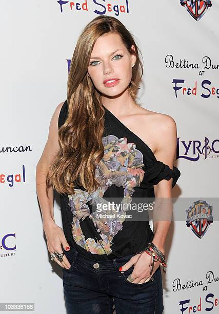 Actress Sophie Monk attends the Lyric Culture 'Nude Collection' Launch Party with Semi Precious Weapons at Fred Segal on August 10 2010 in Santa...