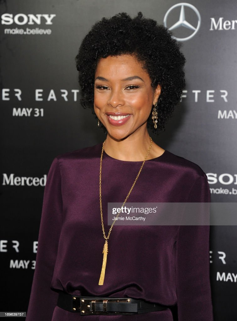 Actress Sophie Okonedo attends Columbia Pictures and Mercedes-Benz Present the US Red Carpet Premiere of AFTER EARTH at Ziegfeld Theatre on May 29, 2013 in New York City.