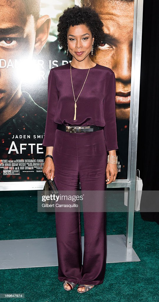 Actress Sophie Okonedo attends the 'After Earth' premiere at Ziegfeld Theater on May 29, 2013 in New York City.
