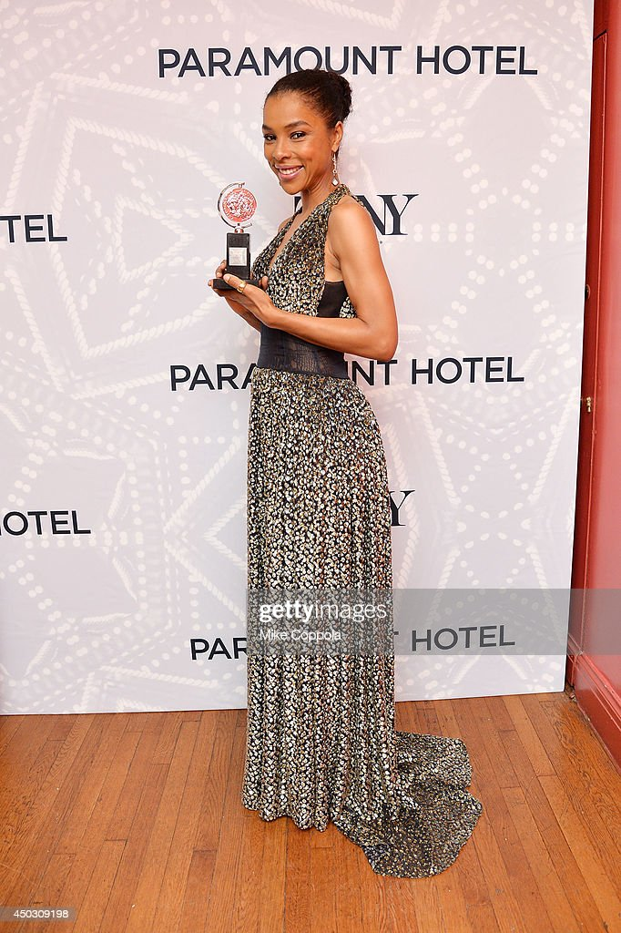 Actress Sophie Okonedo, winner of the Tony Award for Best Performance by an Actress in a Featured Role in a Play for 'A Raisin in the Sun' poses in the Paramount Hotel Winners' Room at the 68th Annual Tony Awards on June 8, 2014 in New York City.