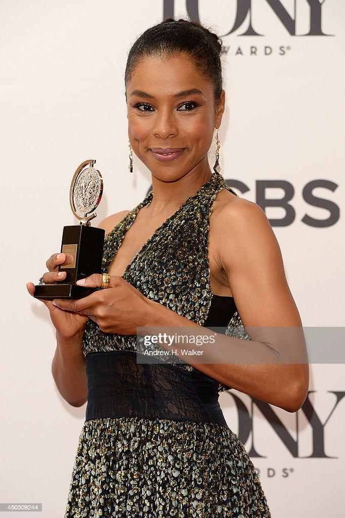 Actress Sophie Okonedo, winner of the Tony Award for Best Performance by an Actress in a Featured Role in a Play for 'A Raisin in the Sun' poses in the Press Room at the 68th Annual Tony Awards on June 8, 2014 in New York City.