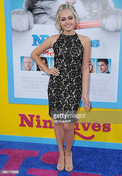 Actress Sophie Reynolds arrives at the Los Angeles Premiere 'Nine Lives' at TCL Chinese Theatre on August 1 2016 in Hollywood California
