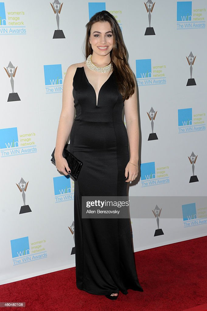 Actress Sophie Simmons arrives at Women's Image Network's 16th annual Women's Image Awards at Beverly Hills Women's Club on December 14 2014 in...