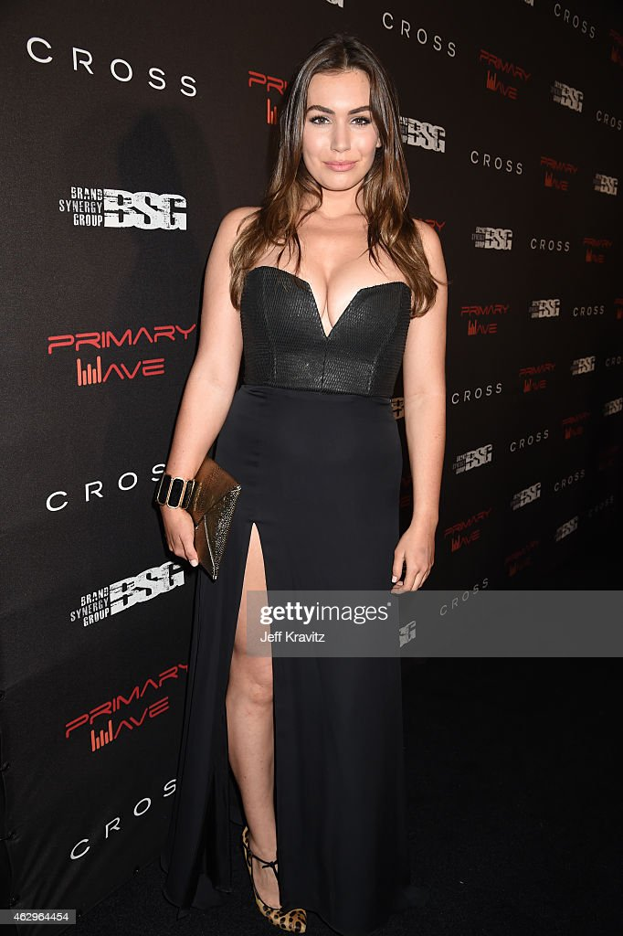 Actress Sophie Simmons attends the Primary Wave 9th Annual PreGrammy Party at RivaBella on February 7 2015 in West Hollywood California