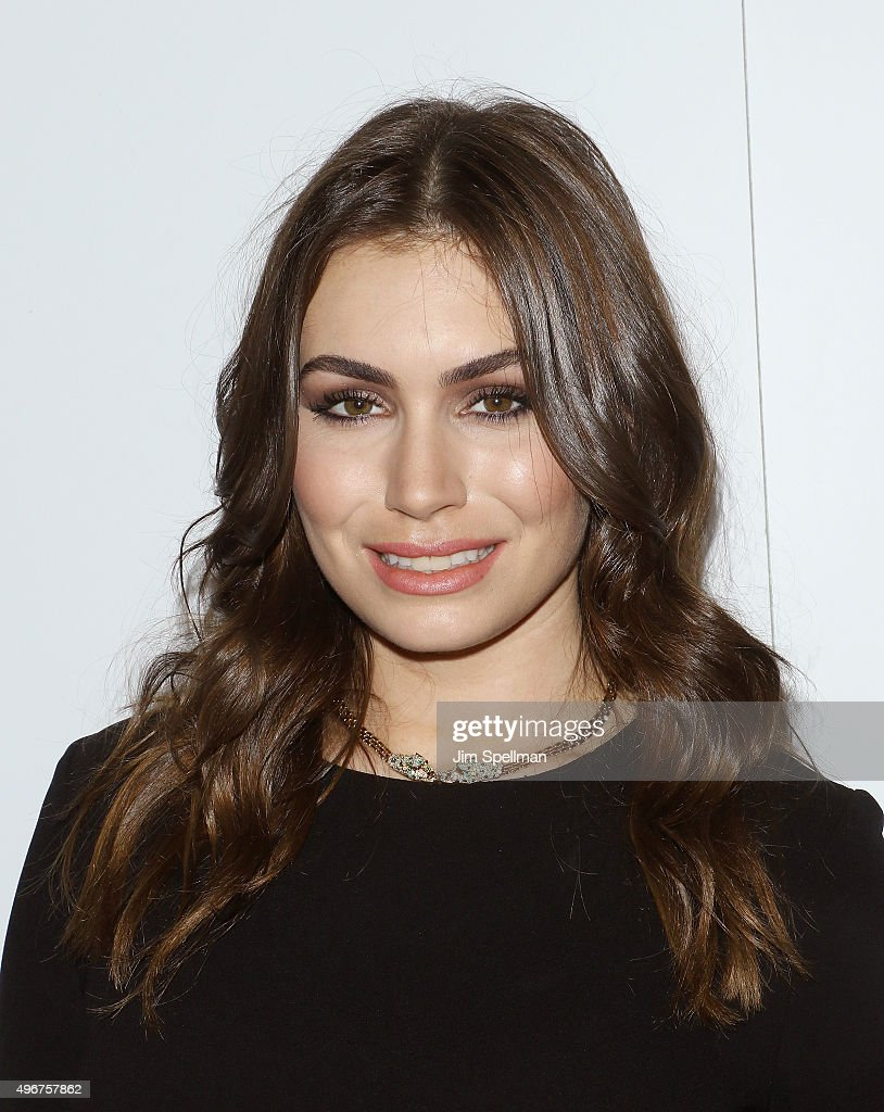 Actress Sophie Simmons attends the Sierra Club's Act In Paris a night of comedy and climate action at Heath at the McKittrick Hotel on November 11...