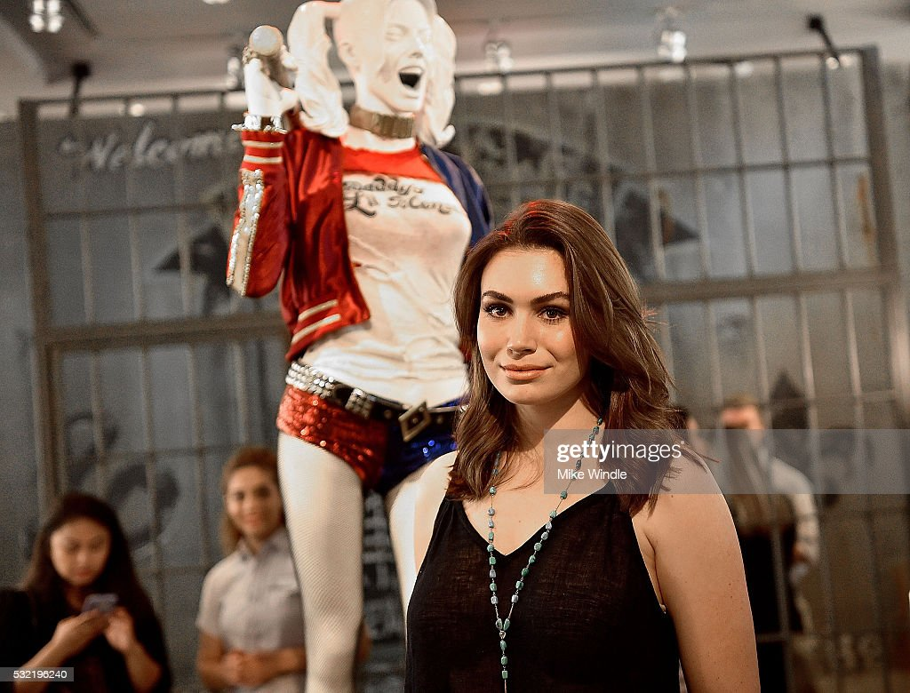 Actress Sophie Simmons attends the Warner Bros Studio Tour Hollywood launch of DC Universe The Exhibit featuring the greatest Super Heroes and...