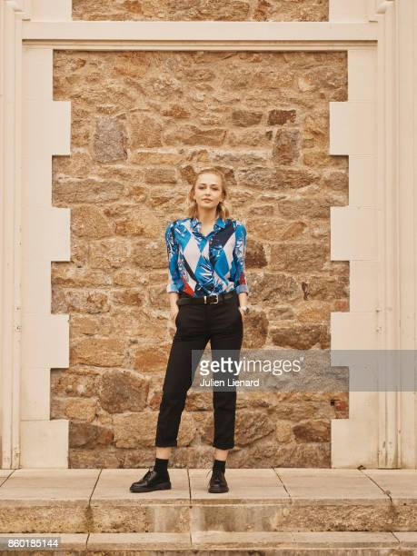 Actress Sophie Simnett is photographed for Self Assignment on September 30 2017 in Dinard France