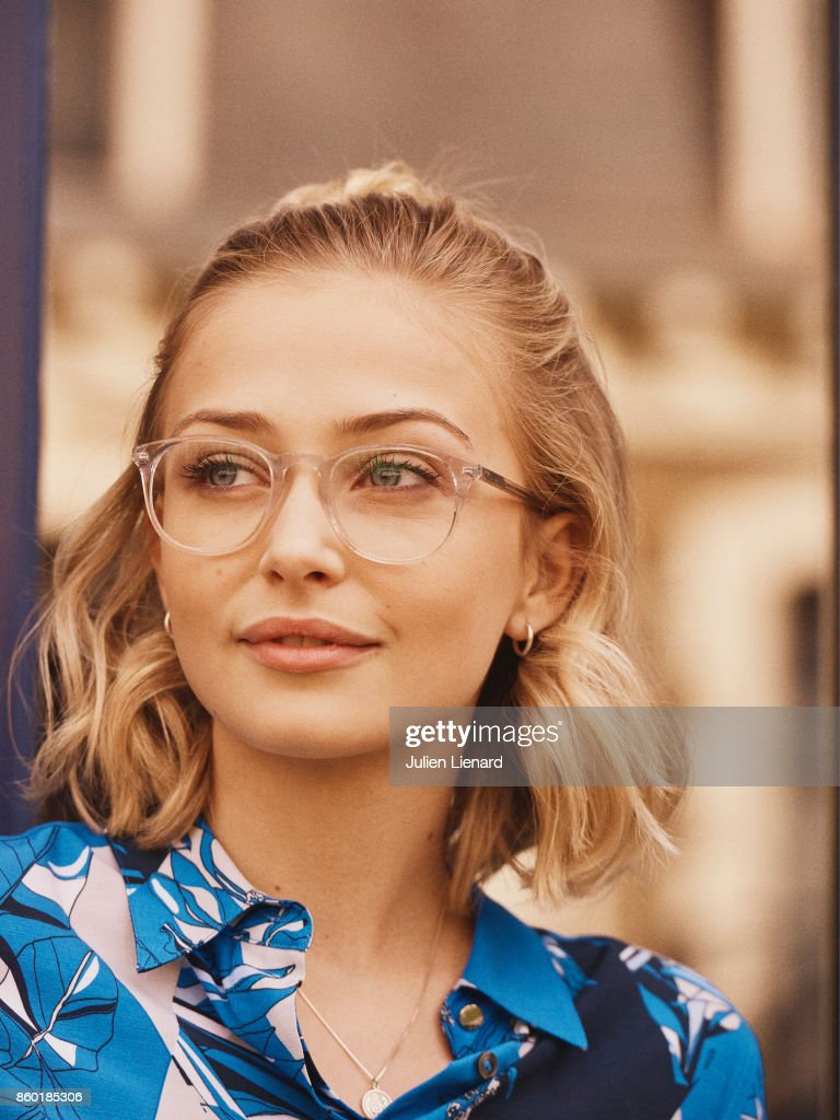 Actress Sophie Simnett is photographed for Self Assignment on September 30, 2017 in Dinard, France.
