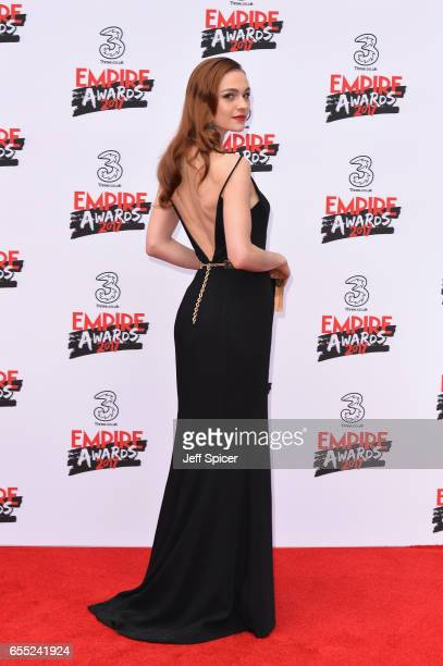 Actress Sophie Skelton attends the THREE Empire awards at The Roundhouse on March 19 2017 in London England