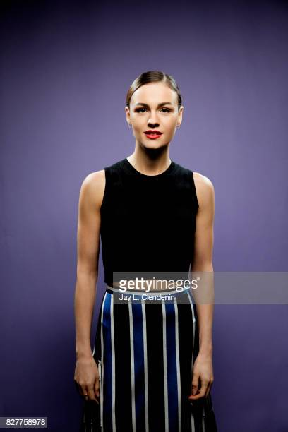 Actress Sophie Skelton from the television series 'Outlander' is photographed in the LA Times photo studio at ComicCon 2017 in San Diego CA on July...