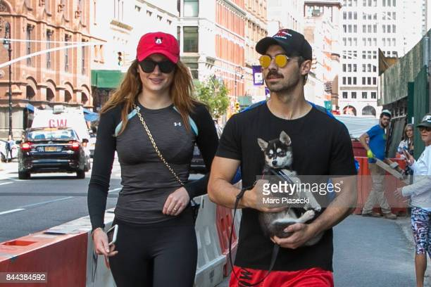 Actress Sophie Turner and Joe Jonas are seen on September 8 2017 in New York City