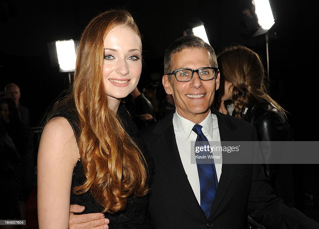 Actress Sophie Turner (L) and President HBO Programming Michael Lombardo arrive at the premiere of HBO's 'Game Of Thrones' Season 3 at TCL Chinese Theatre on March 18, 2013 in Hollywood, California.