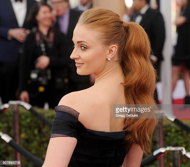 Actress Sophie Turner arrives at the 22nd Annual Screen Actors Guild Awards at The Shrine Auditorium on January 30 2016 in Los Angeles California
