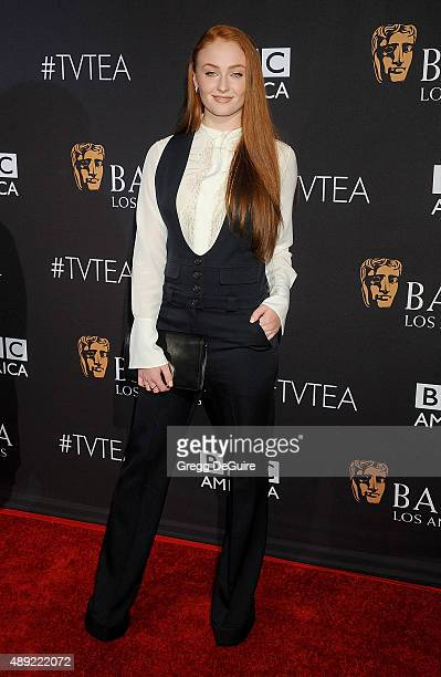 Actress Sophie Turner arrives at the BAFTA Los Angeles TV Tea 2015 at SLS Hotel on September 19 2015 in Beverly Hills California