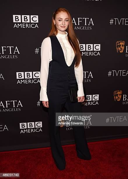 Actress Sophie Turner arrives at the BAFTA Los Angeles TV Tea 2015 at the SLS Hotel on September 19 2015 in Beverly Hills California
