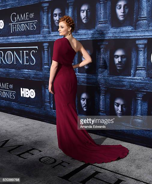 Actress Sophie Turner arrives at the premiere of HBO's 'Game Of Thrones' Season 6 at the TCL Chinese Theatre on April 10 2016 in Hollywood California