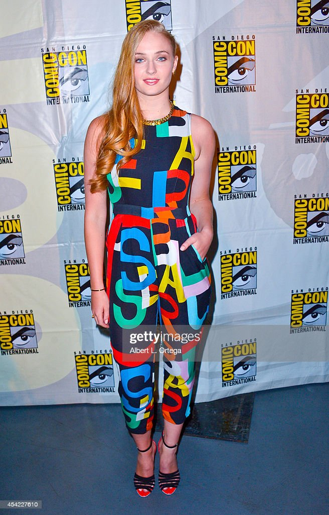 Actress Sophie Turner at HBO's 'Game Of Thrones' Panel And QA on Friday Day 2 of ComicCon International 2014 held at San Diego Convention Center on...
