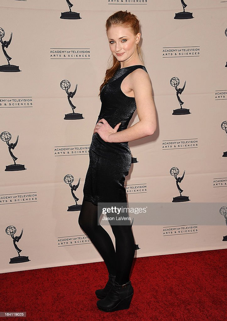 Actress <a gi-track='captionPersonalityLinkClicked' href=/galleries/search?phrase=Sophie+Turner+-+Actress&family=editorial&specificpeople=11657140 ng-click='$event.stopPropagation()'>Sophie Turner</a> attends an evening with 'Game Of Thrones' at TCL Chinese Theatre on March 19, 2013 in Hollywood, California.