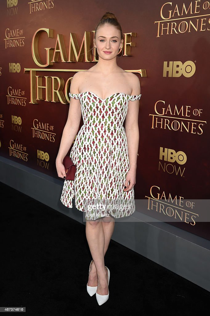 Actress Sophie Turner attends HBO's 'Game of Thrones' Season 5 Premiere and After Party at the San Francisco Opera House on March 23 2015 in San...