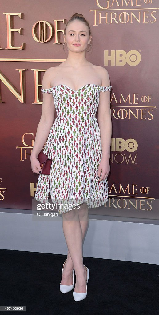 Actress Sophie Turner attends HBO's 'Game of Thrones' Season 5 Premiere at the San Francisco War Memorial Opera House on March 23 2015 in San...