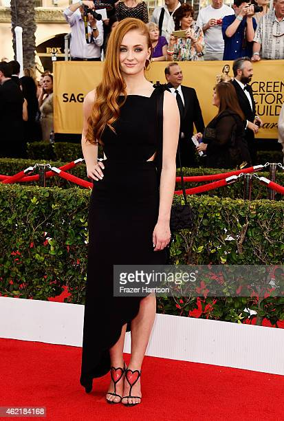 Actress Sophie Turner attends the 21st Annual Screen Actors Guild Awards at The Shrine Auditorium on January 25 2015 in Los Angeles California