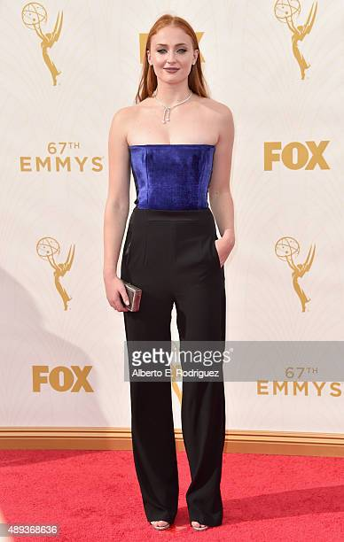 Actress Sophie Turner attends the 67th Emmy Awards at Microsoft Theater on September 20 2015 in Los Angeles California 25720_001