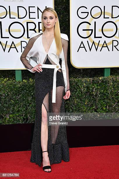 Actress Sophie Turner attends the 74th Annual Golden Globe Awards at The Beverly Hilton Hotel on January 8 2017 in Beverly Hills California