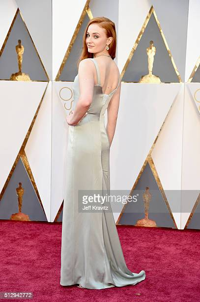 Actress Sophie Turner attends the 88th Annual Academy Awards at Hollywood Highland Center on February 28 2016 in Hollywood California