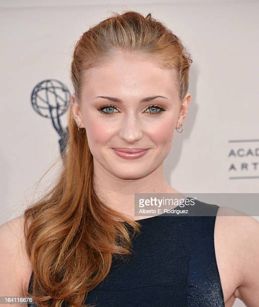 Actress Sophie turner attends The Academy of Television Arts Sciences' Presents An Evening With 'Game of Thrones' at TCL Chinese Theatre on March 19...