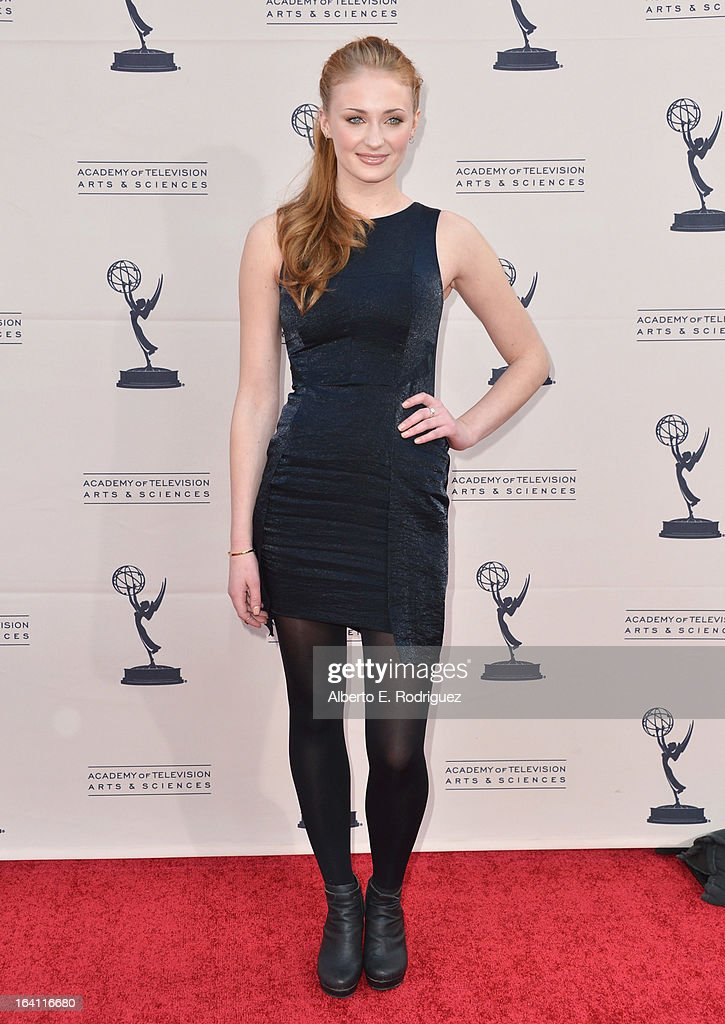 Actress Sophie turner attends The Academy of Television Arts & Sciences' Presents An Evening With 'Game of Thrones' at TCL Chinese Theatre on March 19, 2013 in Hollywood, California.