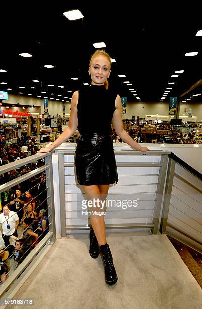 Actress Sophie Turner attends the 'Game of Thrones' autograph signing during ComicCon International 2016 at San Diego Convention Center on July 22...