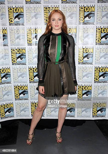 Actress Sophie Turner attends the 'Game of Thrones' panel during ComicCon International 2015 at the San Diego Convention Center on July 10 2015 in...