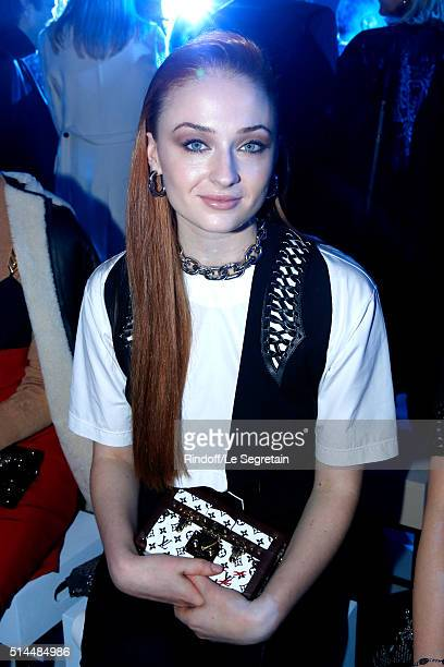 Actress Sophie Turner attends the Louis Vuitton show as part of the Paris Fashion Week Womenswear Fall/Winter 2016/2017 Held at Louis Vuitton...