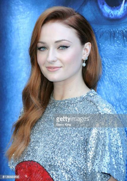 Actress Sophie Turner attends the Premiere of HBO's 'Game Of Thrones' Season 7 at Walt Disney Concert Hall on July 12 2017 in Los Angeles California