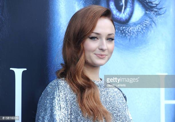 Actress Sophie Turner attends the season 7 premiere of 'Game Of Thrones' at Walt Disney Concert Hall on July 12 2017 in Los Angeles California